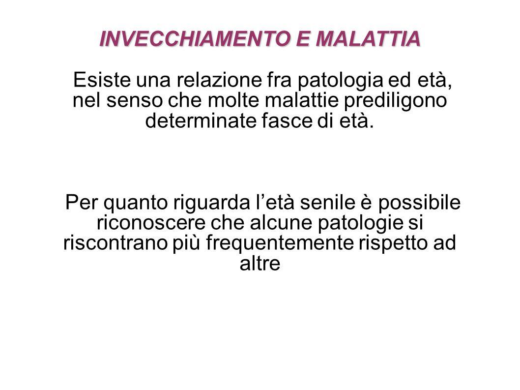 INVECCHIAMENTO E MALATTIA