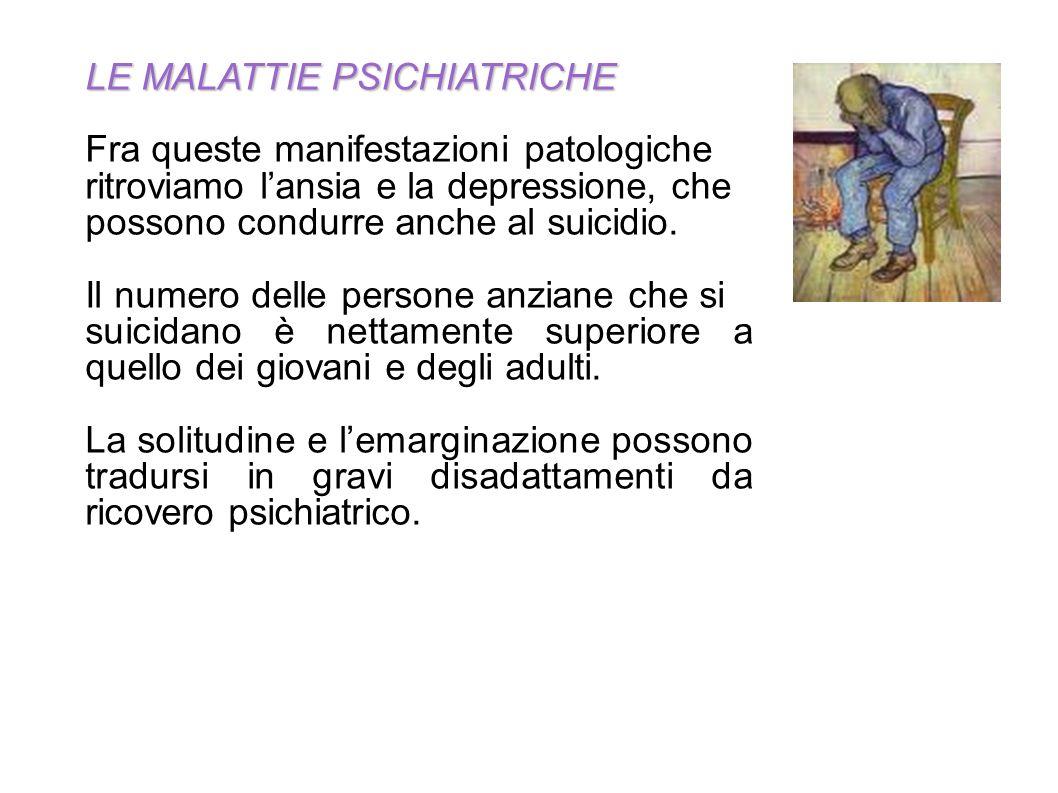 LE MALATTIE PSICHIATRICHE