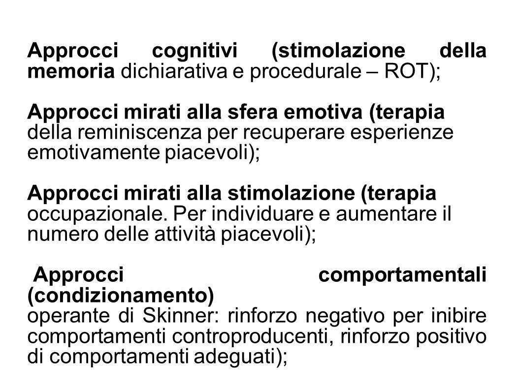 Approcci mirati alla sfera emotiva (terapia