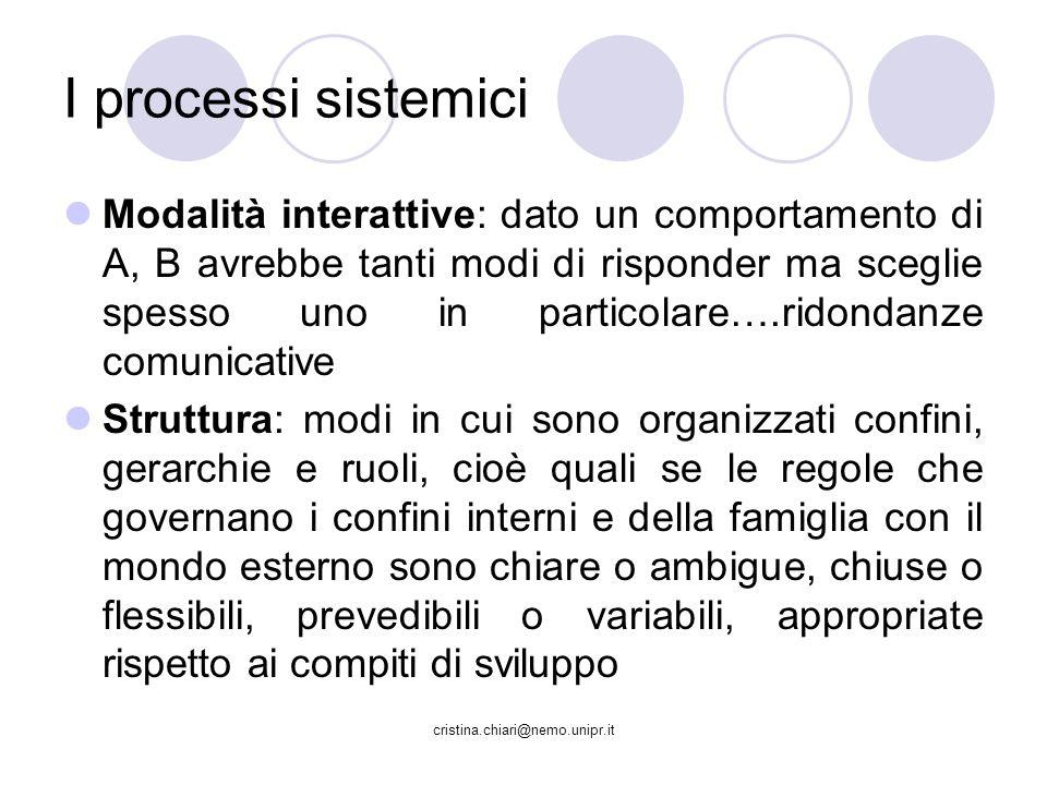 I processi sistemici