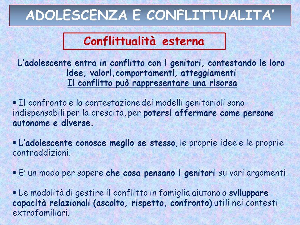 ADOLESCENZA E CONFLITTUALITA'
