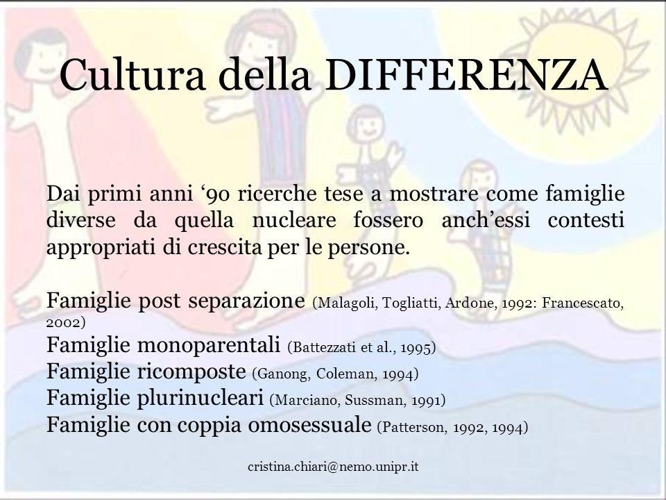 Cultura della DIFFERENZA