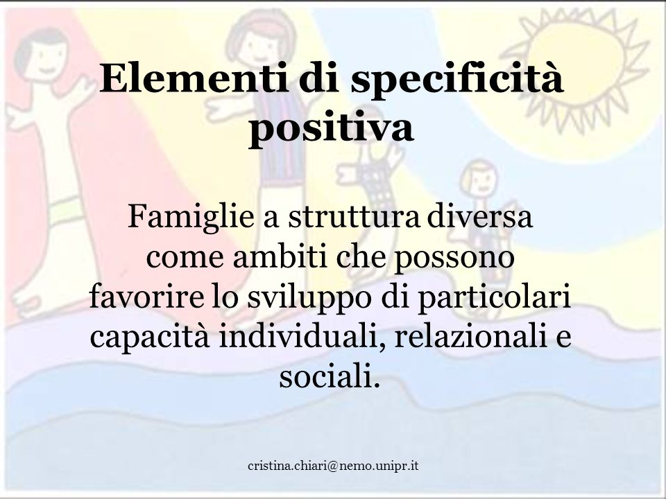 Elementi di specificità positiva