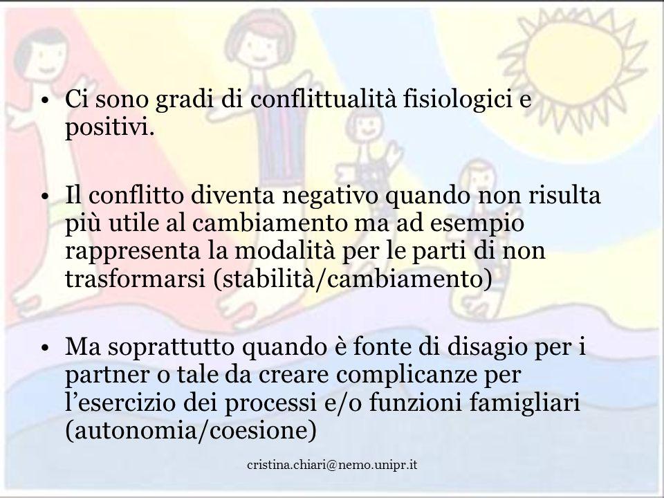Ci sono gradi di conflittualità fisiologici e positivi.