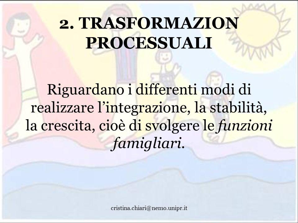 2. TRASFORMAZION PROCESSUALI