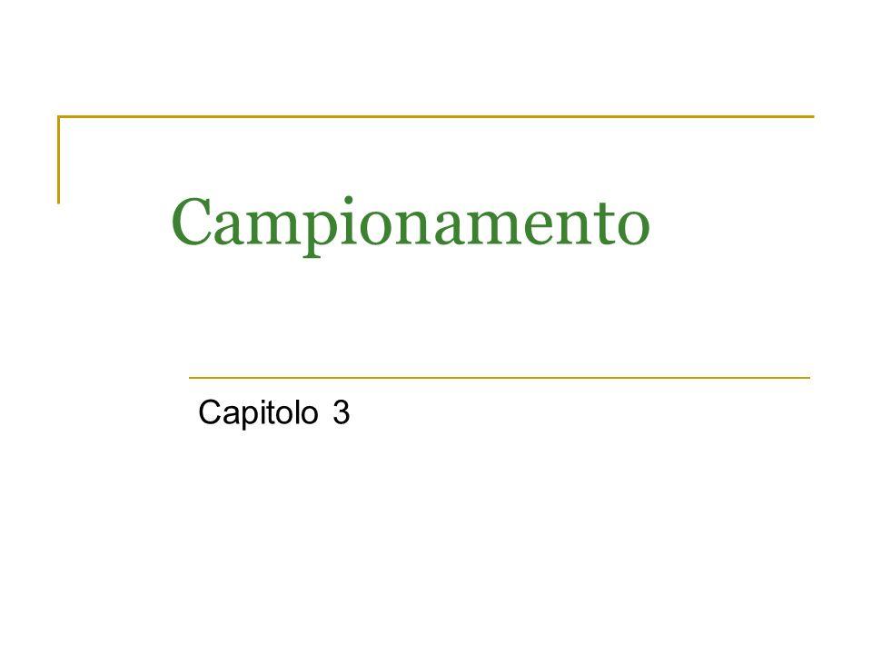 Campionamento Capitolo 3