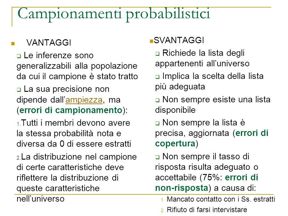 Campionamenti probabilistici