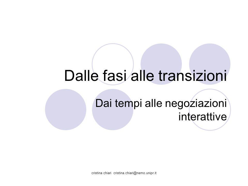 Dalle fasi alle transizioni