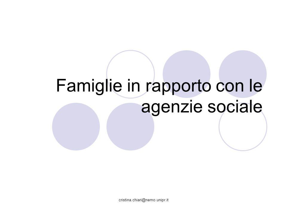 Famiglie in rapporto con le agenzie sociale