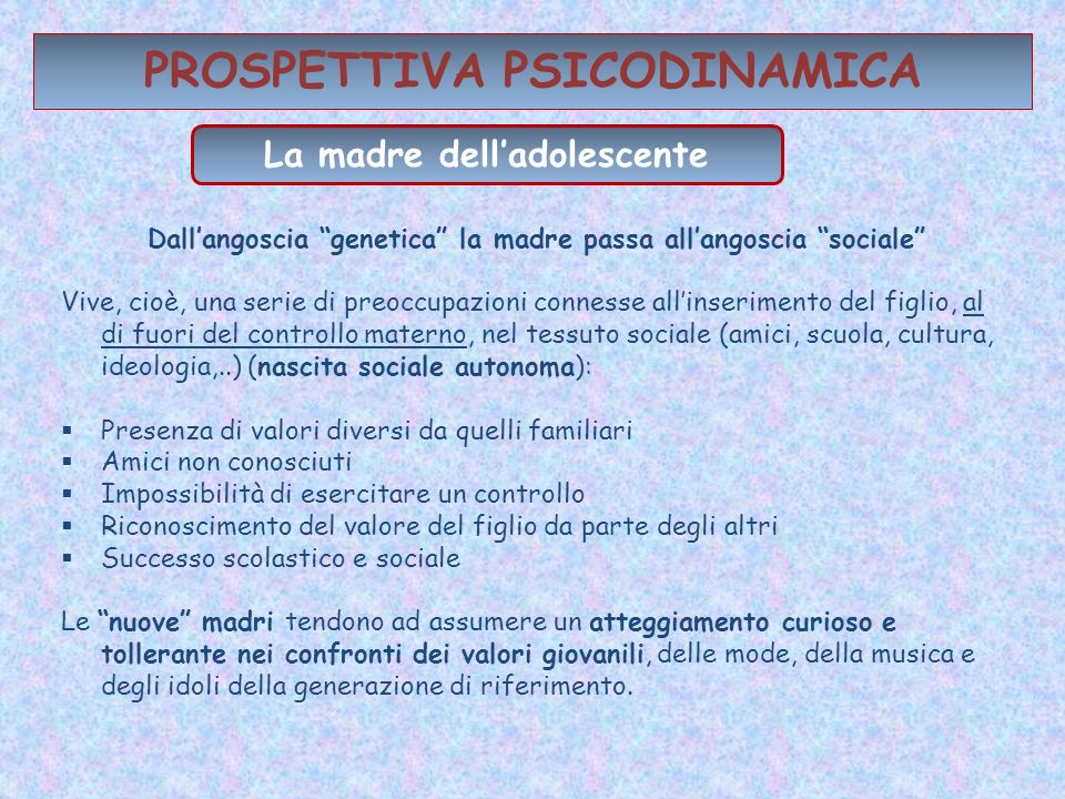 PROSPETTIVA PSICODINAMICA