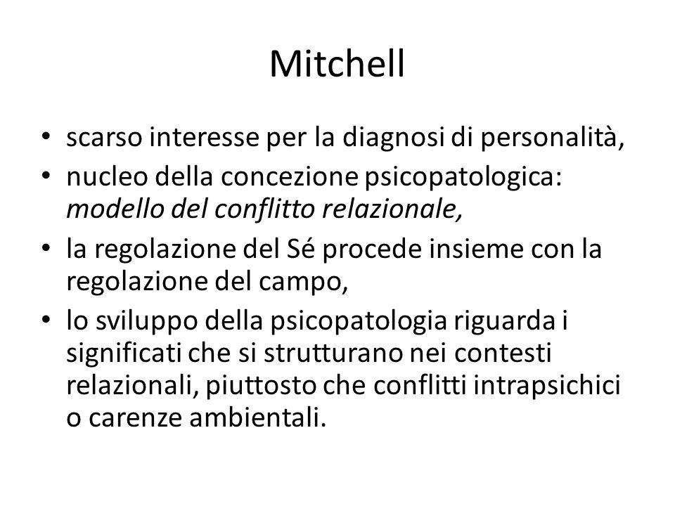 Mitchell scarso interesse per la diagnosi di personalità,