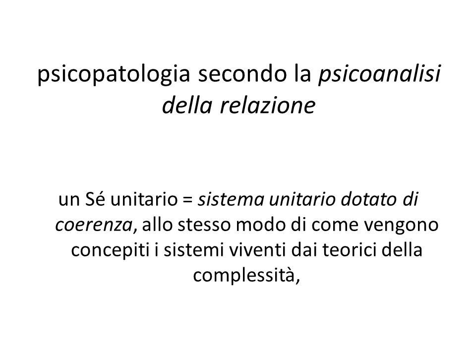 psicopatologia secondo la psicoanalisi della relazione