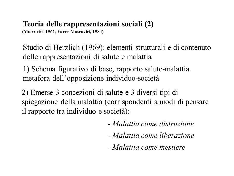 Teoria delle rappresentazioni sociali (2)