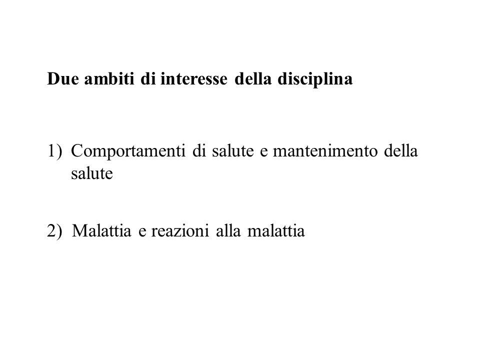 Due ambiti di interesse della disciplina