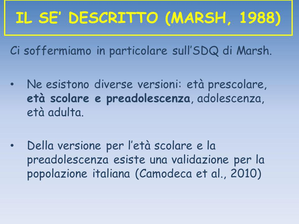 IL SE' DESCRITTO (MARSH, 1988)