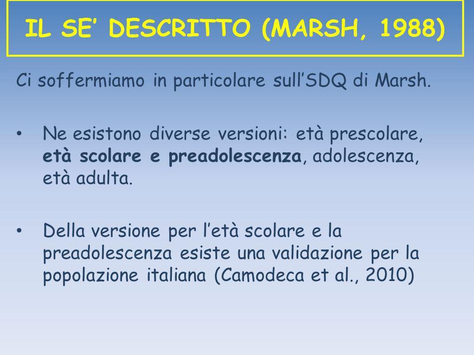 IL SE' DESCRITTO (MARSH, 1988)