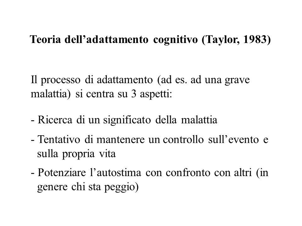 Teoria dell'adattamento cognitivo (Taylor, 1983)