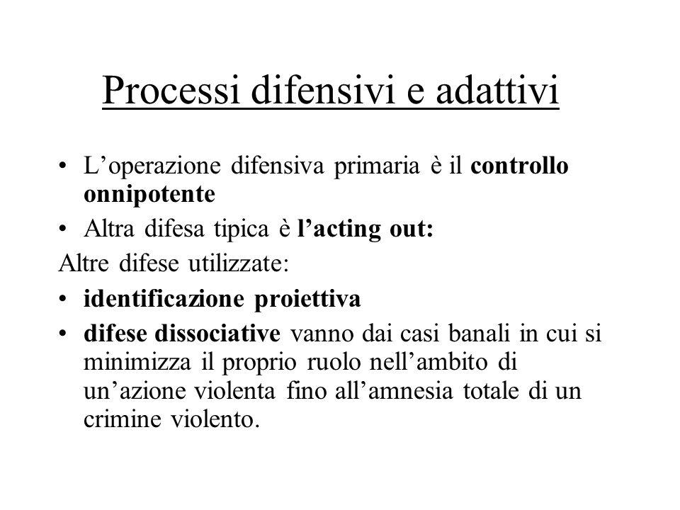 Processi difensivi e adattivi