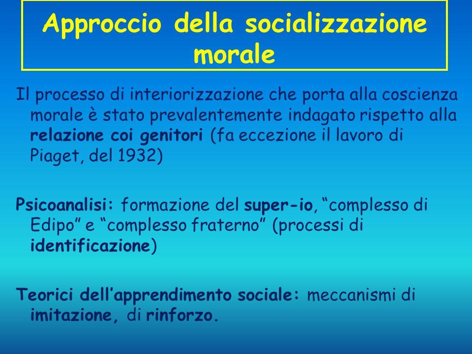 Approccio della socializzazione morale