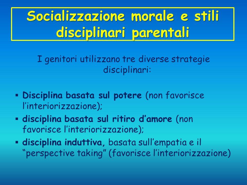 Socializzazione morale e stili disciplinari parentali