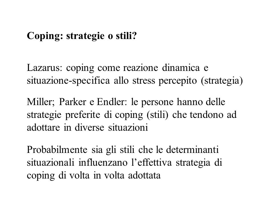 Coping: strategie o stili