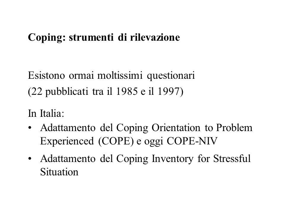 Coping: strumenti di rilevazione