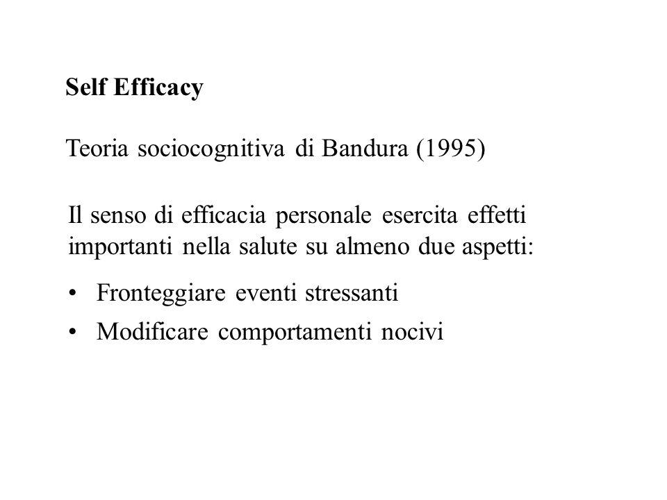 Self Efficacy Teoria sociocognitiva di Bandura (1995)