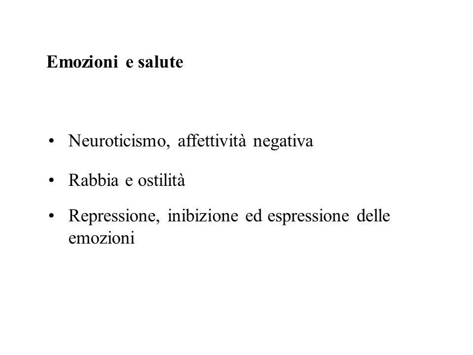 Emozioni e salute Neuroticismo, affettività negativa.