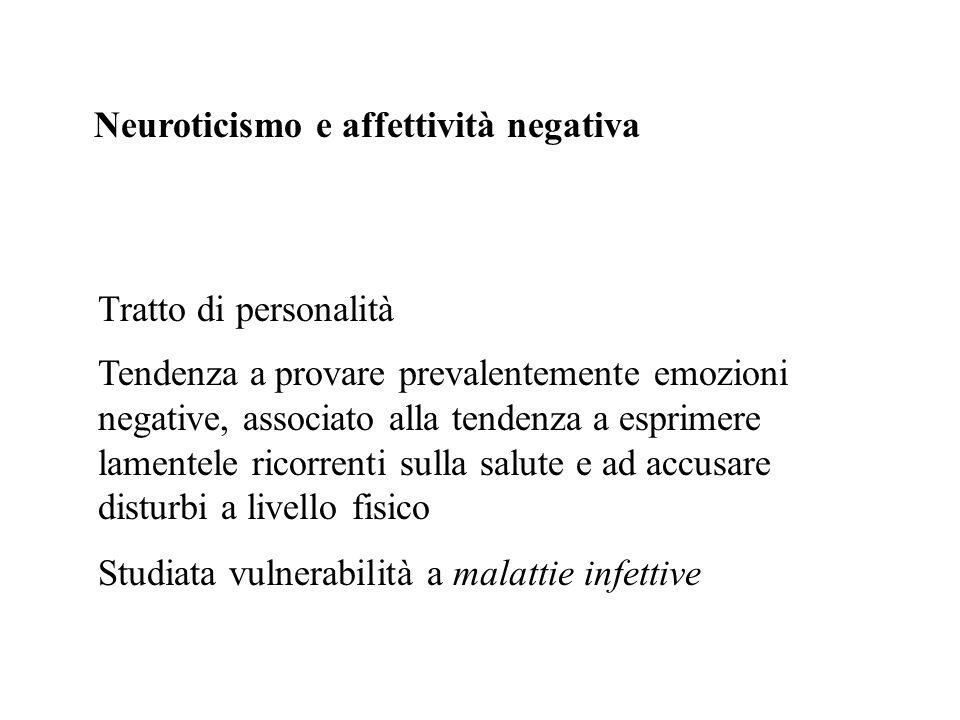 Neuroticismo e affettività negativa