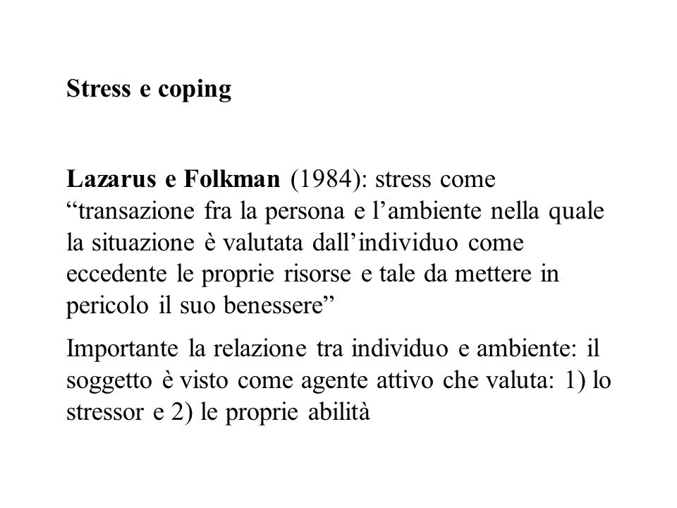 Stress e coping