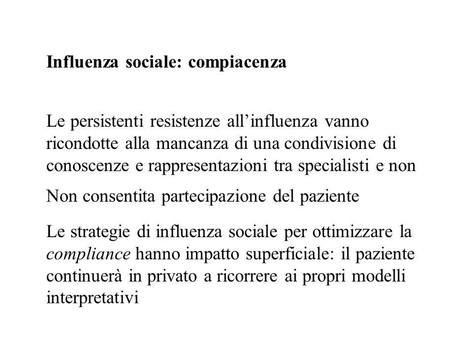 Influenza sociale: compiacenza