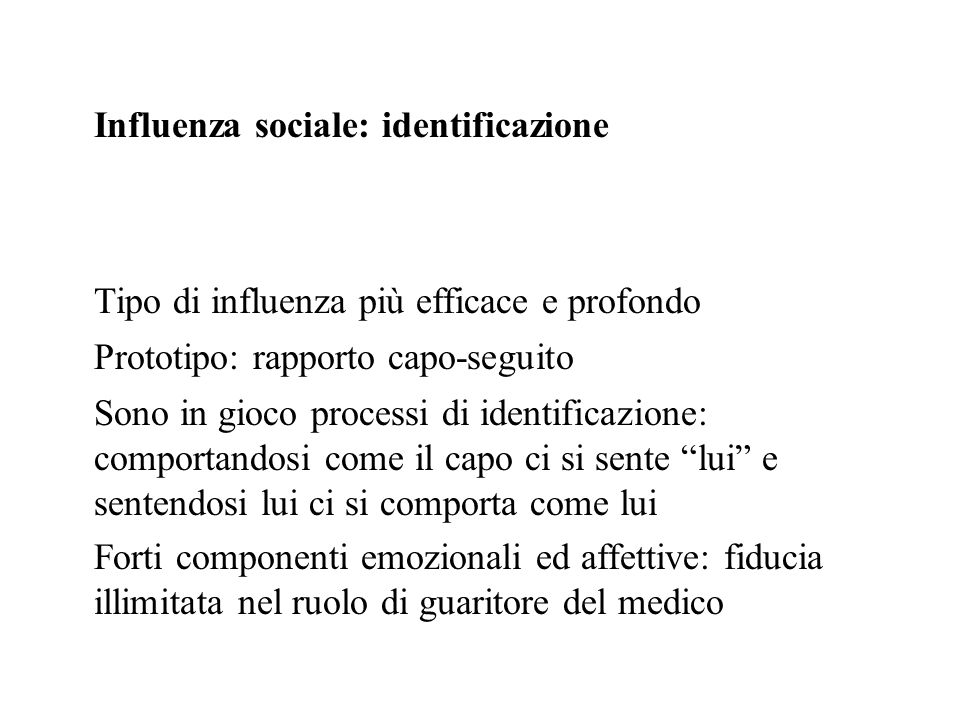Influenza sociale: identificazione