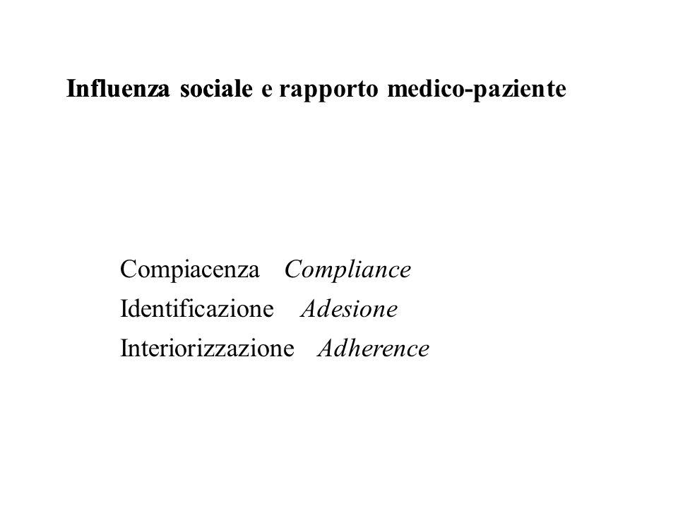 Influenza sociale e rapporto medico-paziente