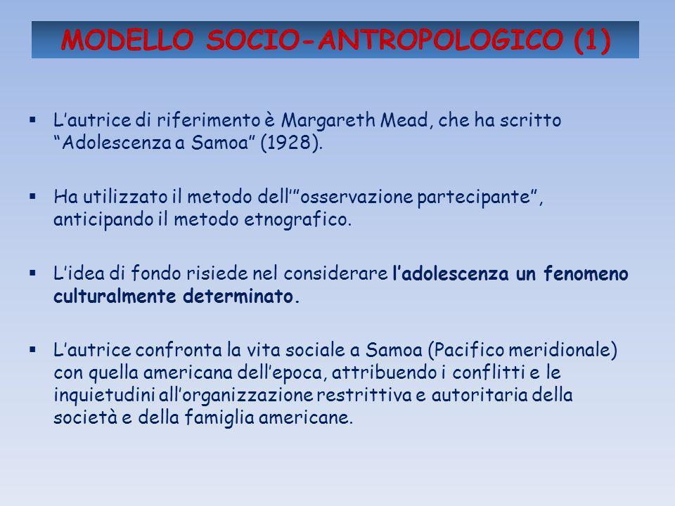 MODELLO SOCIO-ANTROPOLOGICO (1)