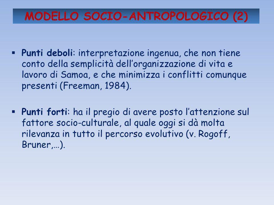 MODELLO SOCIO-ANTROPOLOGICO (2)