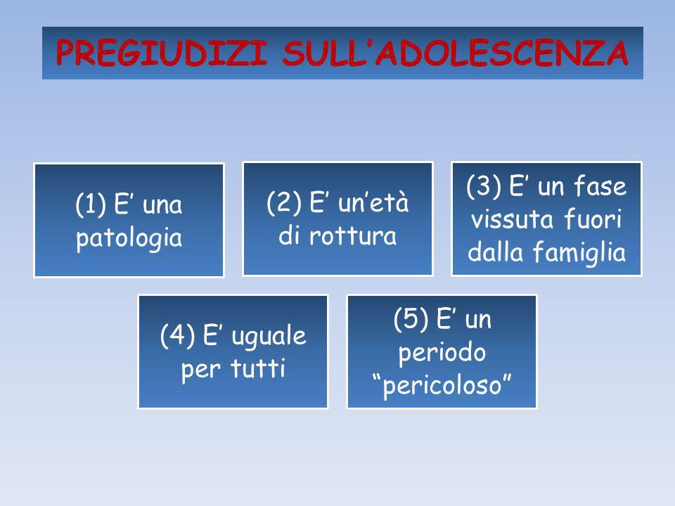 PREGIUDIZI SULL'ADOLESCENZA