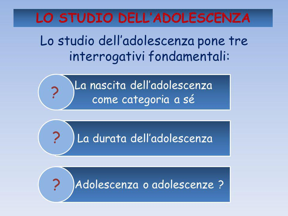 LO STUDIO DELL'ADOLESCENZA