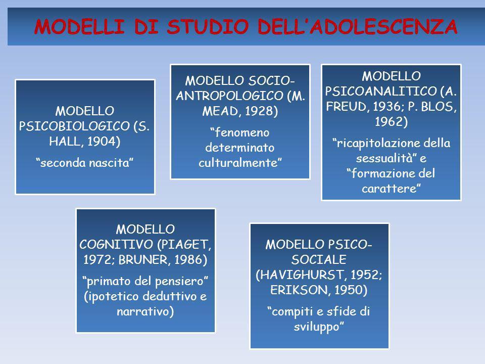 MODELLI DI STUDIO DELL'ADOLESCENZA