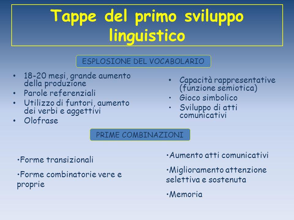 Tappe del primo sviluppo linguistico