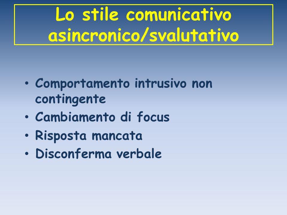 Lo stile comunicativo asincronico/svalutativo
