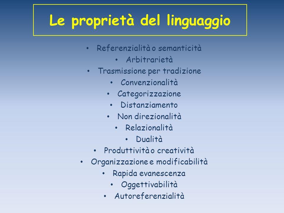 Le proprietà del linguaggio