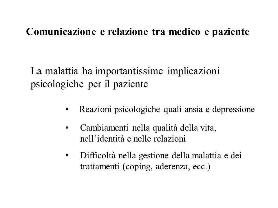 Comunicazione e relazione tra medico e paziente