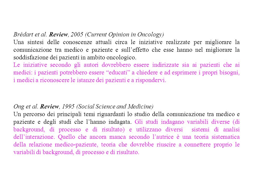 Brédart et al. Review, 2005 (Current Opinion in Oncology)