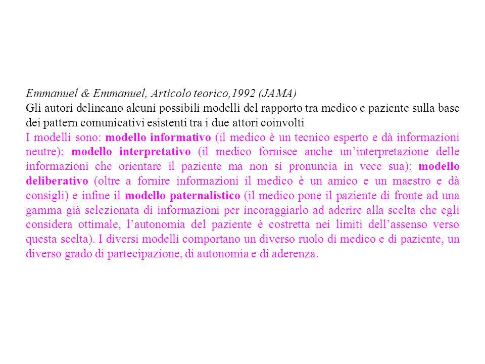 Emmanuel & Emmanuel, Articolo teorico,1992 (JAMA)