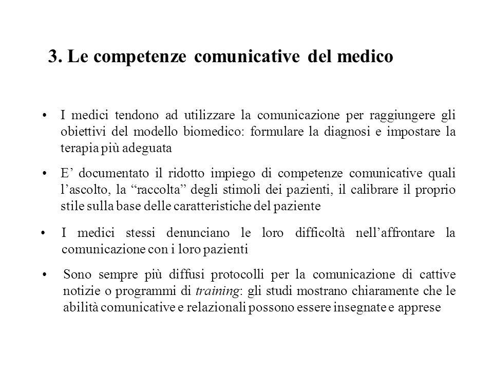 3. Le competenze comunicative del medico
