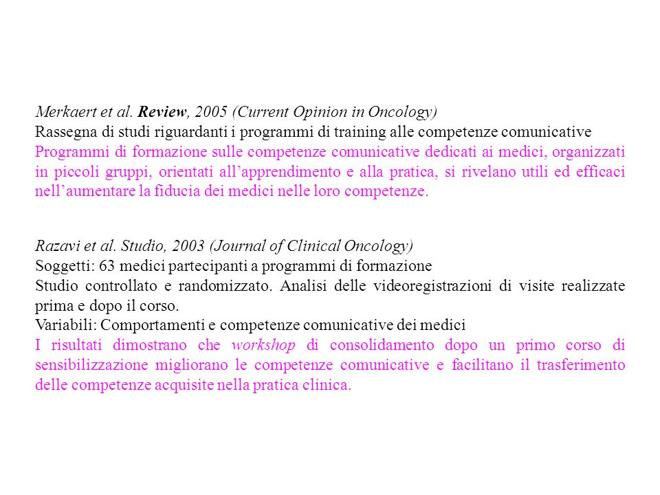 Merkaert et al. Review, 2005 (Current Opinion in Oncology)