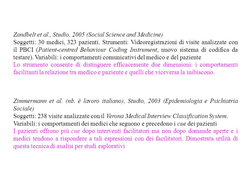 Zandbelt et al., Studio, 2005 (Social Science and Medicine)