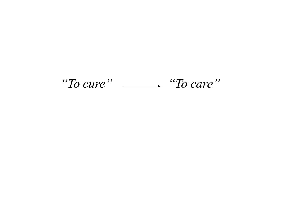 To cure To care