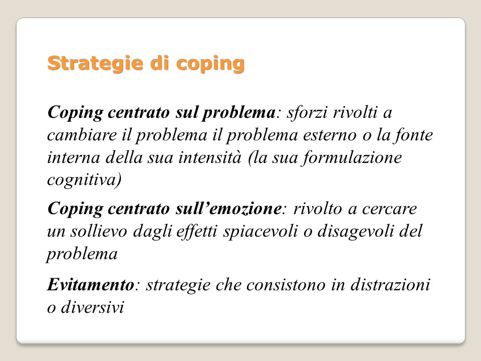 Strategie di coping