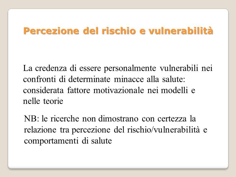Percezione del rischio e vulnerabilità